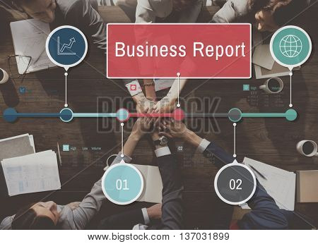 Business Report Resulting Information Article Concept