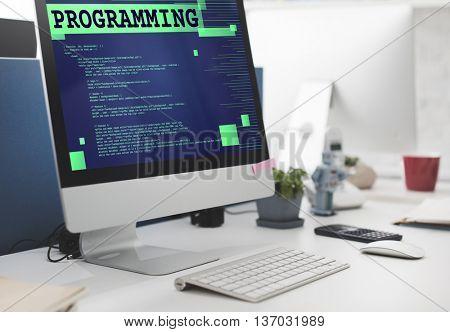 Programming Scheduling Digital Application Code Concept