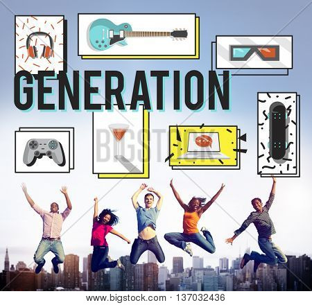 Generation Entertainment Free Time Youth Concept