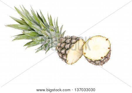 fresh pine apple isolated on white background
