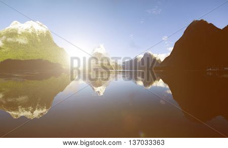 Environment Freshness Horizon Reflection Water Concept