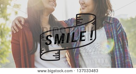 Smile Happy Cheerful Enjoyment Fun Happiness Concept