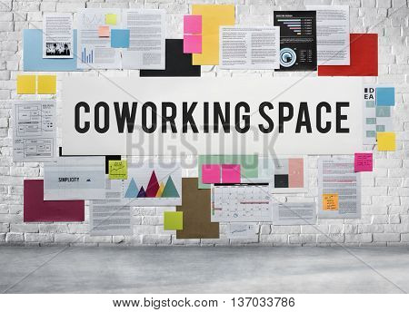 Coworking Space Independence Creative Start-Up Concept