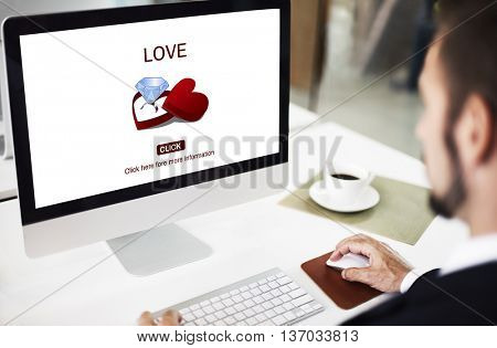 Love Engagement Ring Couple Love Concept