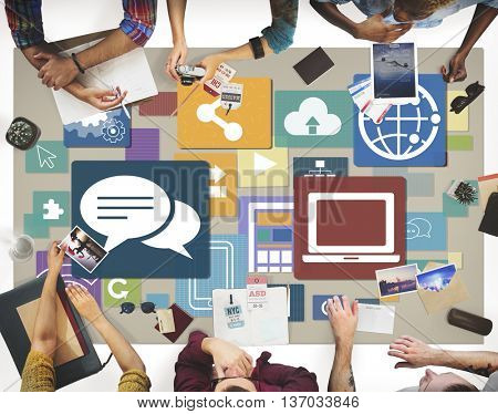Technology Networking Global Communication Concept