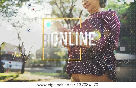 People Lifestyle Online Browse Concept