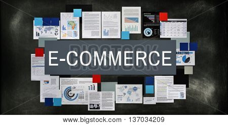 E-commerce Business Connecting Email Internet Concept