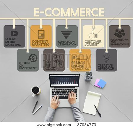 E-commerce Advertisement Marketing Online Concept
