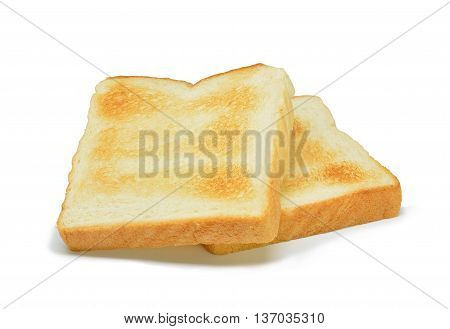 toasted bread isolated on a white background