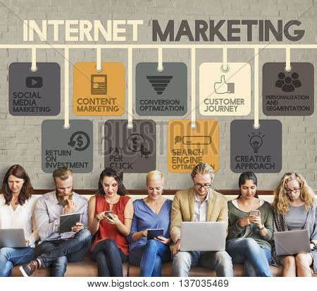 Internet Marketing Advertising Digital Online Concept