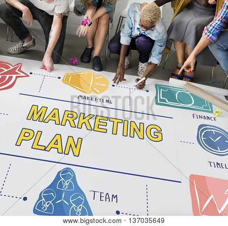Marketing Plan Branding Commercial Strategy Concept