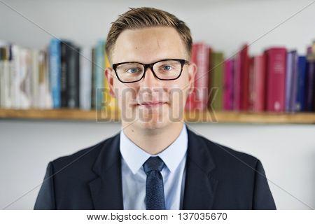 Businessman Business Confidence Worker Focus Concept