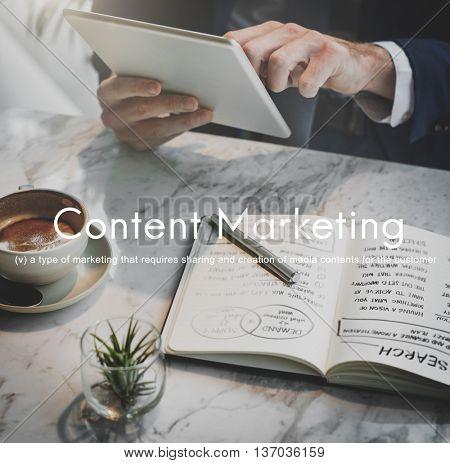 Content Marketing Social Media Advertising Commercial Branding Concept