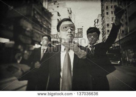 Chinese Businessman Superhero Costume Concept