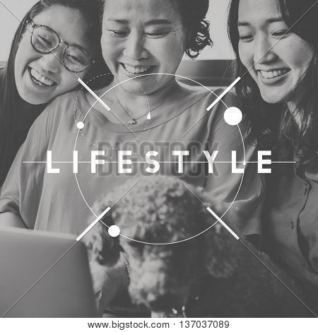 Lifestyle Life Happy People Graphic Concept