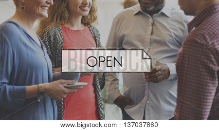 Open Welcome Greeting Come In Concept