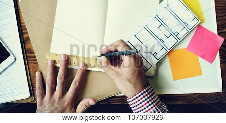 Engineer Architecture Design Blueprint Planning Concept