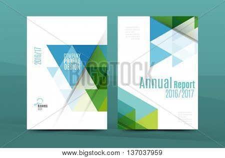 Annual Report A4 page cover, leaflet brochure flyer template or book and magazine layout design, abstract background presentation template