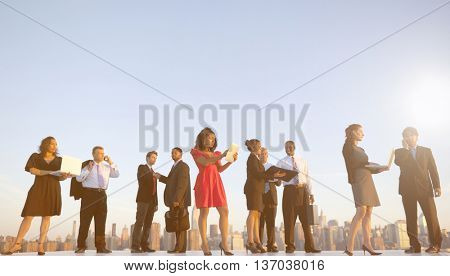Outdoor Business Meeting in New York City Concept