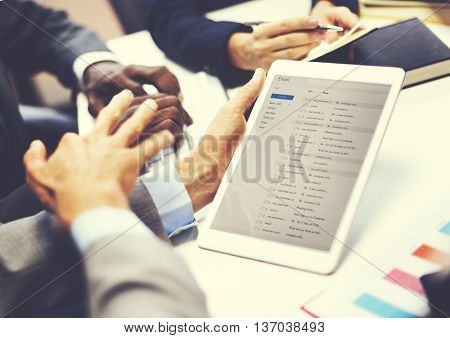 Business People Team Meeting DIscussion Email Connection Concept