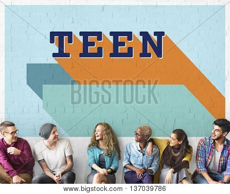 Teen Adolescence Lifestyle Young Youth Culture Concept poster