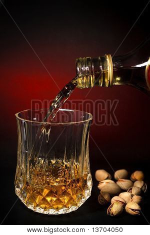 Whisky Filling A Glass