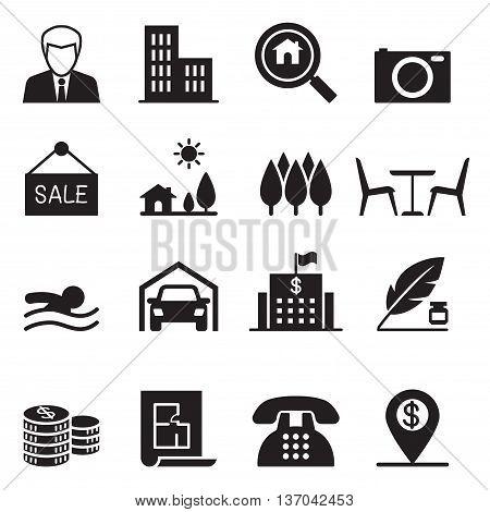 Real estate icons set  vector illustration graphic design