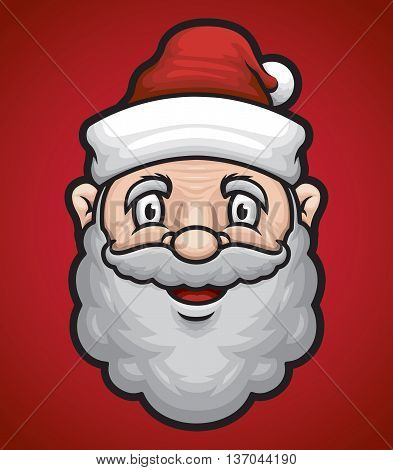 santa calaus face vector for happy holiday