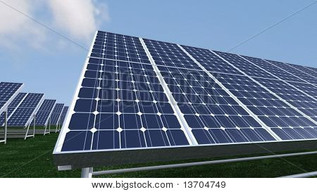 Animation presenting photovoltaic panels in high definition