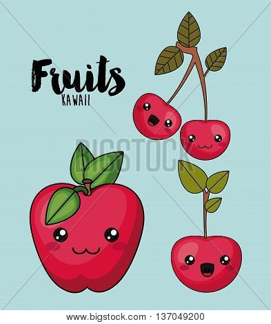 fruit character isolated icon design, vector illustration  graphic
