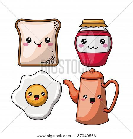 breakfast character isolated icon design, vector illustration  graphic