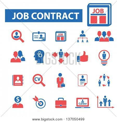 job contract, career, interview, cv, human resources, organization, development, management, system, ceo, business, hr, meeting, leader, manager, director, resume, people, community icons vector