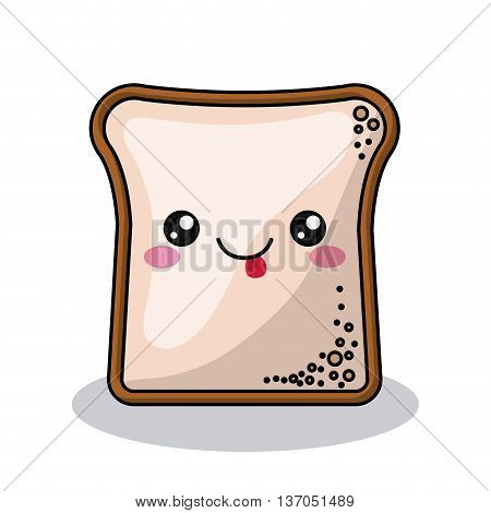 toast character isolated icon design, vector illustration  graphic