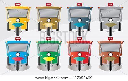 Modern design of Three wheel Motor or Tuktuk