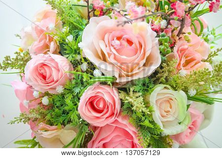 Roses are very beautiful flowers in pots.