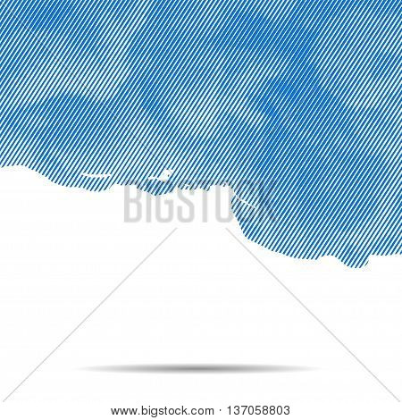 Vector dotted abstract halftone cloud background. Vector EPS