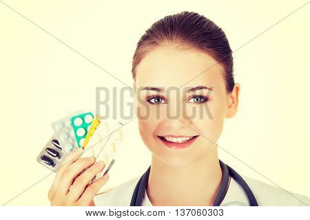 Doctor with pills