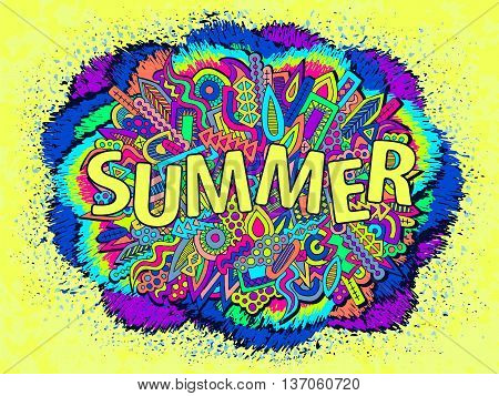 Doodle Abstract Ethnic Elements Summer Ornament 1