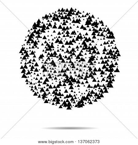 Vector triangle abstract halftone background. EPS 10