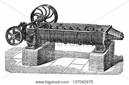 Dampening mixer, vintage engraved illustration. Industrial encyclopedia E.-O. Lami - 1875.