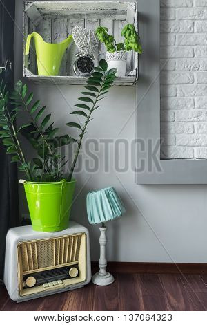 House Corner With Stylish Decorations