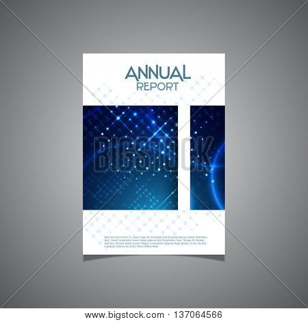 Modern cover design for a business annual report