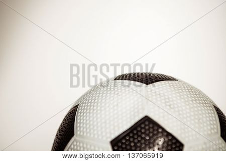 Close up of soccer ball on white background