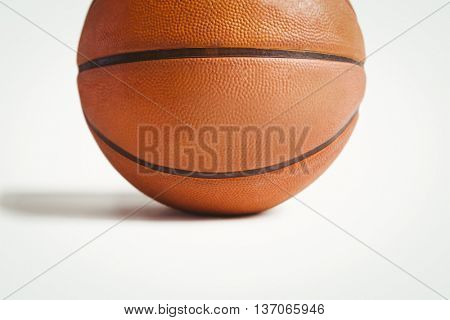Close up basket ball on white background