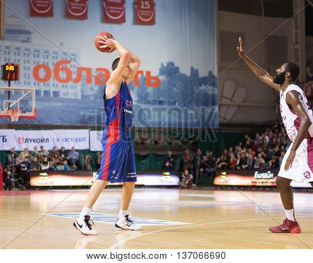 Bc Cska Forward Victor Khryapa (31) With Ball