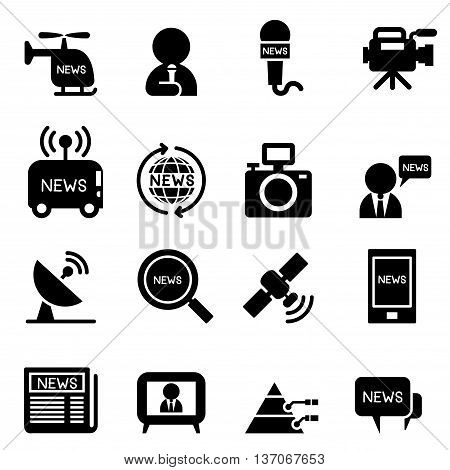 News reporter icons Vector illustration graphic design