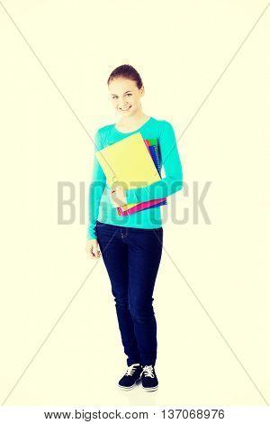 Happy student girl