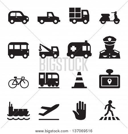 Traffic icon set 2 Vector illustration Graphic design