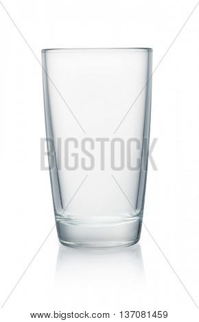 Empty glass isolated on white