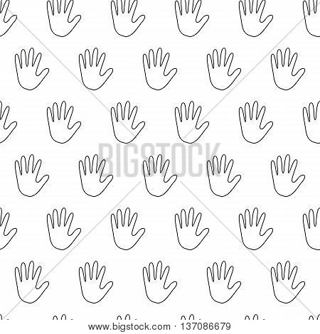 seamless pattern with handbreadth, simple seamless pattern, a linear pattern on a white background